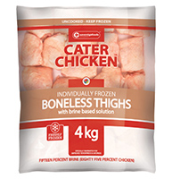 Cater Chicken Boneless Thighs 4kg