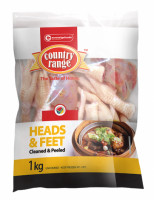 Country Range Chicken Heads & Feet (Cleaned & Peeled) 1kg