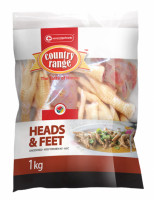 Country Range Chicken Heads & Feet (Unpeeled) 1kg